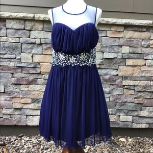 B. Smart Woman Navy blue NWOT prom dress size 16W